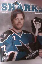 San Jose Sharks hockey magazine program 22:1 2013 George Gund, Brad Stuart #7