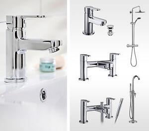 Pop Round Bathroom Tap Range. Basin Tap, Waste, Bath Filler & Bath Shower Mixer