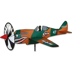 """P-40 (24 x 23"""") Warhawk Replica Staked Airplane Spinner with Pole..29.. PR 26305"""