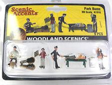 HO Scale Model Railroad Trains Woodland Scenics Park Bum People Figures 1916