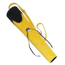 TRADITIONAL LEATHER BACK ARROW QUIVER AQ137 YELLOW