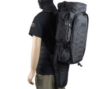 Molle Tactical Airsoft Extended Full Gear Dual Rifle Gun Backpack Bag Case Black