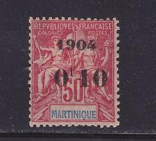 COLONIES FRANCAISES MARTINIQUE N°  56 * MLH neuf avec charnière, TB, cote: 32 €