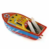 CANDLE POWERED STEAM BOAT POP POP PUTT PUTT BOAT VINTAGE LITHO TIN TOY BABY GIFT