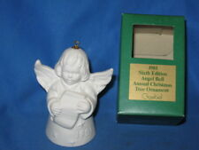 Vintage Bisque Porcelain Ornament Bell Angel Goebel 1981 West Germany