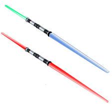 156cm Doppellichtschwert Lichtschwert 4fach Lichteffekt blau rot grün Dauerlicht