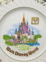 Vintage Walt Disney World Castle Souvenir Hanging Decorative Plate Made In Japan