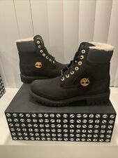 TIMBERLAND MEN'S PREMIUM 6 IN WARM LINED B BLACK NUBUCK STYLE A2957 SIZE 9M