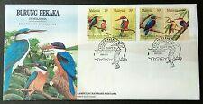 1993 Malaysia Birds --- Kingfishers 4v Stamps FDC (Melaka Cancellation) Best Buy