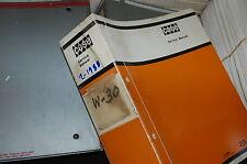 CASE W30 Front End Wheel Loader Shop Service Manual book overhaul owner 1988