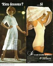 PUBLICITE ADVERTISING 116  1977   Barbara    le combiné SI  lycra sous vetements