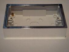 YBD.C Varilight 2 Gang (Double), Patress Wall Box (for surface mounting) Chrome