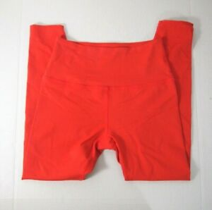 Beyond Yoga Womens Leggings S Orange High Rise Athletic 7/8 Knit Made in USA