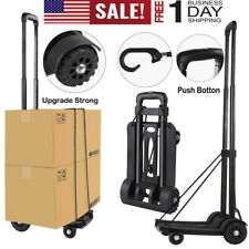 170lbs Cart Folding Push Truck Hand Collapsible Trolley Luggage Cart 4 Wheels US