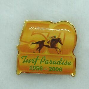 Turf Paradise Horse Racing Lapel Hat Pin Arizona 50th Anniversary