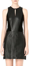 MAJE Sexy Devoir Panelled Leather Dress (Size 1)