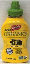 French's True Organic Classic Yellow Mustard 12 oz Frenchs