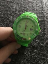 Ice Watch Mens Green VGC Silicon Strap Large Face Lego Money Box