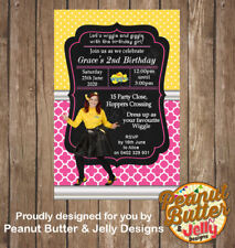 Personalised Emma Wiggle Birthday ANY AGE or EVENT INVITATION 4X6