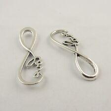 40pcs Vintage Silver Alloy Infinity Charms Bracelet Pendant Jewelry Crafts 38434