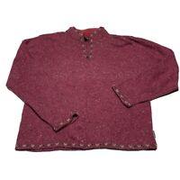 Vintage Women's Large Woolrich 100% Lambs Wool Zip Knit  Pullover