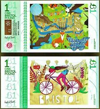 England / Bristol : £1 Local Banknote + Stamp you can only use in Bristol. UNC