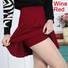 Women Fashion Skirts Mini Skirt Ladies Spring Summer High Waist Pleated Skirts P