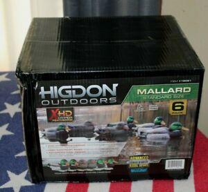 NEW Higdon Standard Mallard Duck Decoys 6 Pack HUNTING NIB