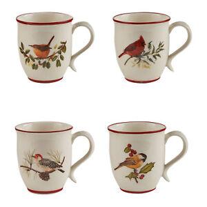 Park Designs Winter Birds Mug Set - White