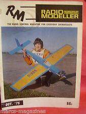 AIRCRAFT BOAT RADIO MODELLER OCTOBER 1975 HELI-BABY CESSNA SKYHAWK MINI-MUSTANG