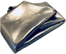 Italian Genuine Lambskin Metallic Foil Leather Hide Skin Shinny Silver 6-7