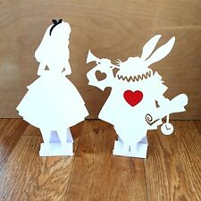 Bundle of 3 Alice in Wonderland Decorations/ Props White Rabbit Keys Tea Party