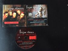 "FINGER ELEVEN 2 SONGS 2 VIDEOS ""FIRST TIME""+ ""DRAG YOU DOWN"" PROMO CD BRAND NEW"