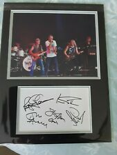 More details for signed 16x12 deep purple ian gillan roger glover ian paice don airey morse photo