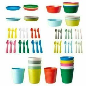IKEA Kalas Kids Multicolour Plastic Bowls Cups Plates Cutlery SET or INDIVIDUAL