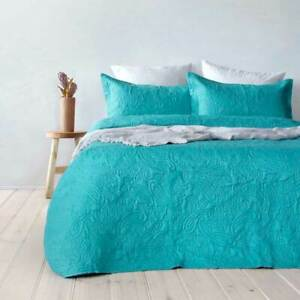 Bambury Paisley Peacock Coverlet Set Bedspread Bed Cover NEW