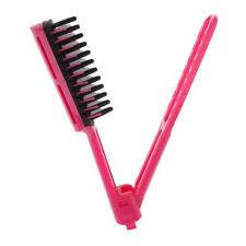 Salon Hair Styling Straightening Folding Clamp Comb Brush Straightener Tool