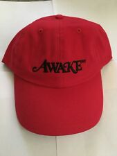 NEW Awake NY Men's Red Logo Embroidered Dad Hat Cap FW17 RARE AUTHENTIC