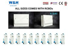 LIVE 16 WAY (14 USABLE WAY) METAL CONSUMER UNITS C/W 100A MAIN SWITCH & 10 RCBOS