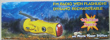 Dynamo Rechargeable Flashlight FM Radio Emergency Hand Crank