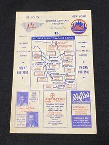 1966 Yankees vs Mets Spring Training Scorecard Program - Elston Howard Autograph