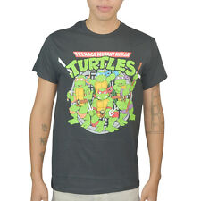 Teenage Mutant Ninja Turtles Group On Guard Graphic Men's T-shirt, Black