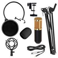 BM800 Condenser Microphone Kit Studio Suspension Boom Sound Card Mic Shock Mount