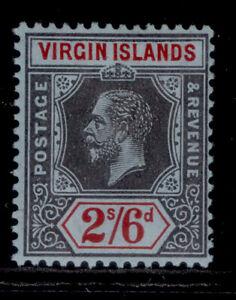 BRITISH VIRGIN ISLANDS GV SG76, 2s 6d black & red/blue, M MINT. Cat £50.
