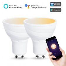 2 x Tuneable White LED Smart bulb GU10 Wifi - Google Home & Amazon Alexa