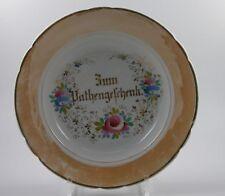 Tiefer Teller Schlesien zum Pahtengeschenk um 1850 Patengeschenk
