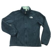 The North Face Osito Womens Small Sherpa Fleece Teal Green Full Zip Jacket