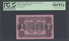 Italy Banca Agricola Sarda 30 lire 1-1-1880 PS921cs Specimen About  Uncirculated
