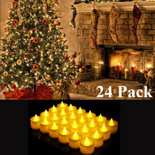24pcs Christmas Flameless Candles LED Tea Lights Battery Operated No Flame Decor