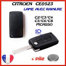 Boîtier de Coque Clé CITROEN C1/C2/C3/C4/C5/C8 Picasso/Bouton Phare CE0523 a r